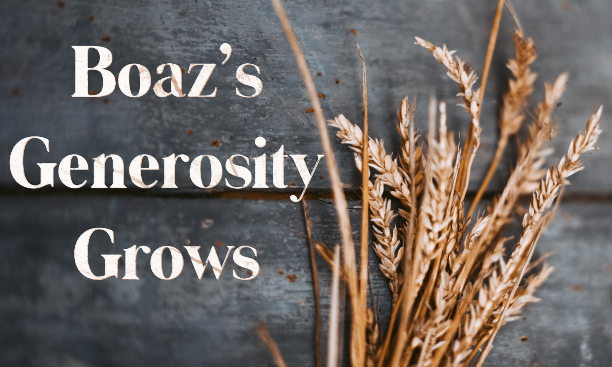 Boaz's Generosity Grows